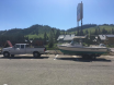 Boat and truck at pass.JPG