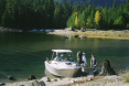 Ross Lake - getting ready for hike to beaver pond for a little fly fishing