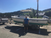 Picture with the boat at the pass